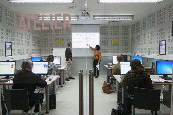 Atelier numérique au niveau 3 de la Bpi