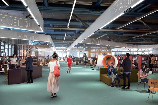 Vue de la future bibliothèque rénovée