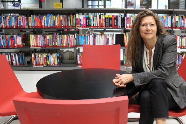 Christine Carrier, directrice de la Bibliothèque publique d'information depuis 2014