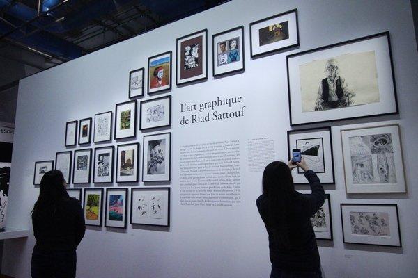 l'intérieur de l'exposition Riad Sattouf