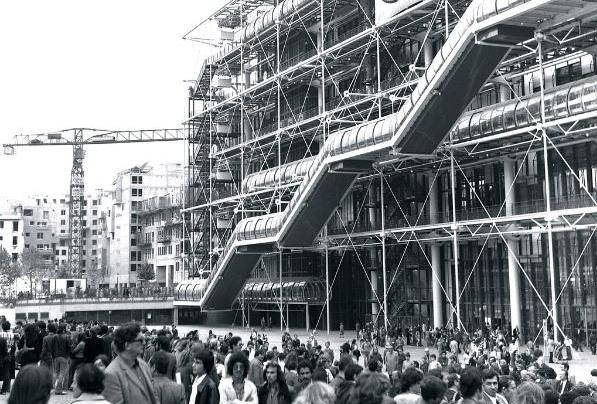 photo d'archive du centre pompidou