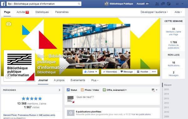 Page facebook de la Bpi