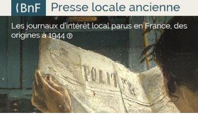 capture d'écran du site de la BnF
