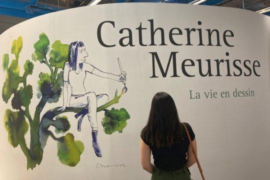visite de l'exposition catherine meurisse à la Bpi