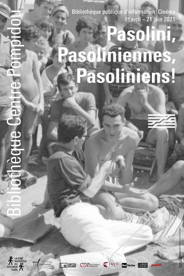 affiche du cycle Pasolini à la Cinémathèque du documentaire Bpi
