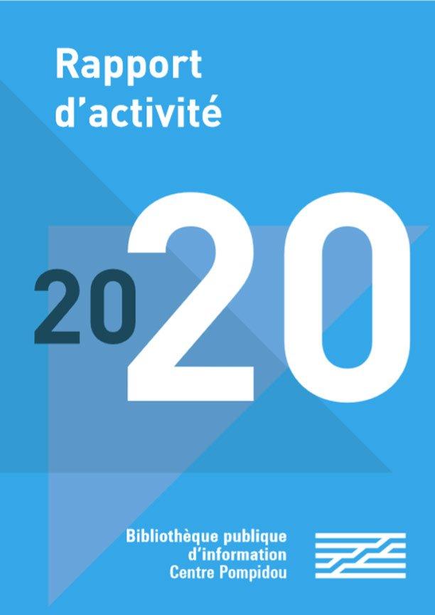 couverture du rapport d'activité 2020 de la bibliothèque publique d'information
