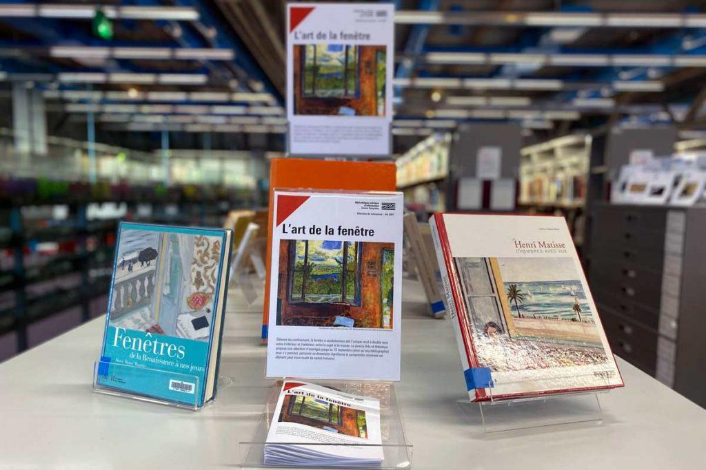 table de valorisation d'ouvrages à la Bpi.