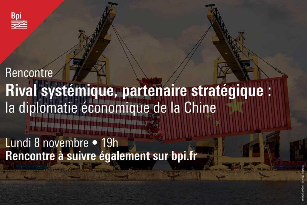 affiche de la rencontre sur la diplomatie chinoise lundi 8 novembre à 19h