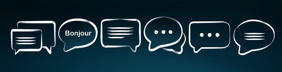 Bulles de discussion avec bonjour