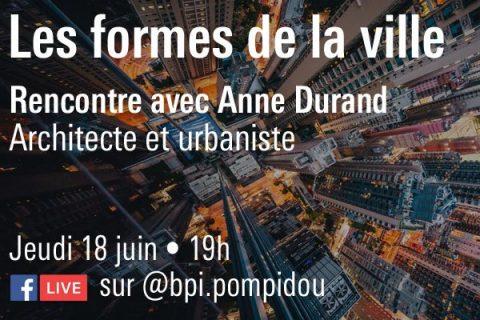 Conférence sur les formes de la ville en ligne sur Facebook