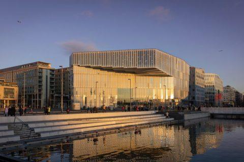 photo de la bibliothèque centrale d'Oslo