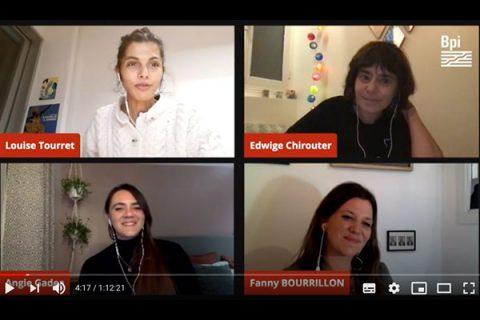 capture d'écran de la rencontre en ligne sur la philosophie et les enfants