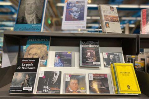 photos d'ouvrages sur Beethoven à la bibliothèque publique d'information