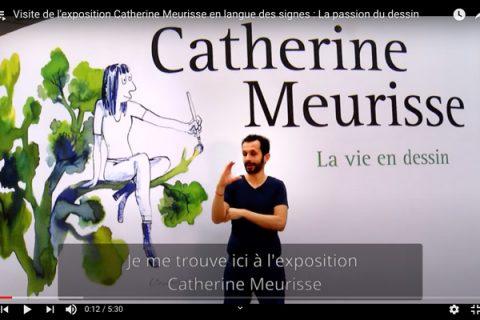 visite virtuelle en langue des signes française de l'exposition catherine Meurisse