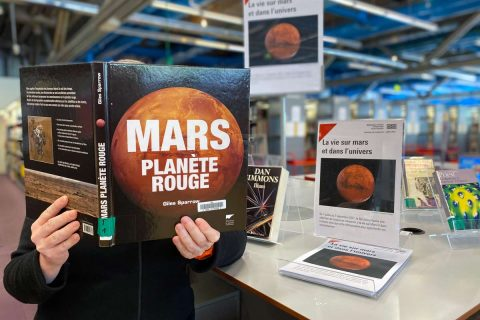 photo d'une table de valorisation sur Mars à la bpi.