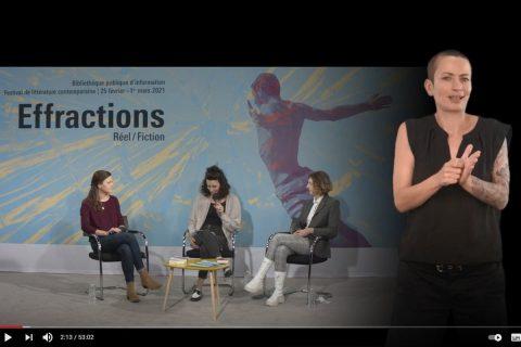 capture d'écran d'une rencontre en langue des signes francaises