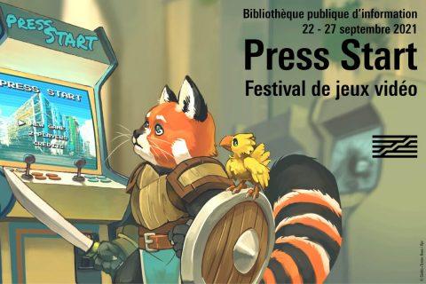 Press Start festival de jeu vidéo 22 au 27 septembre 2021