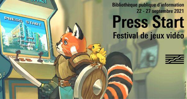 Festival de jeux video Press Start le 22 au 27 septembre à la Bpi