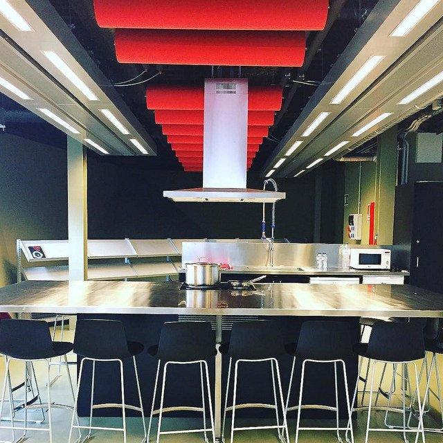 Photographie de la cuisine de la bibliothèque