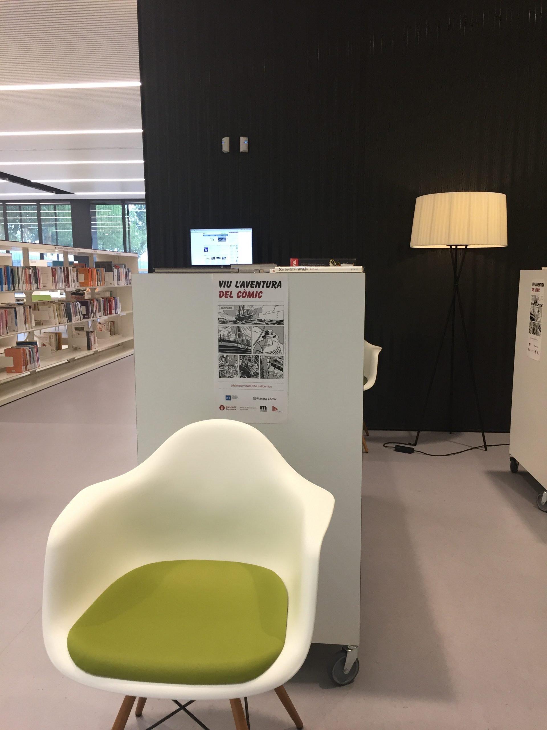 mobilier de la bibliothèque Miquel Batllori