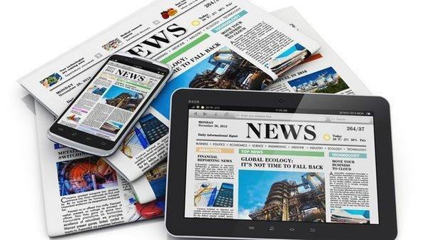 Image de journaux et de tablettes