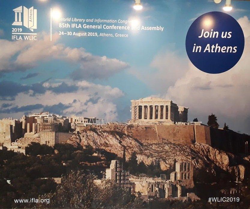 Poster pour le congrès d'Athènes en 2019