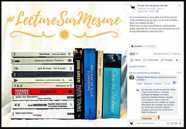 Post #LectureSurMesure publié sur les réseaux sociaux