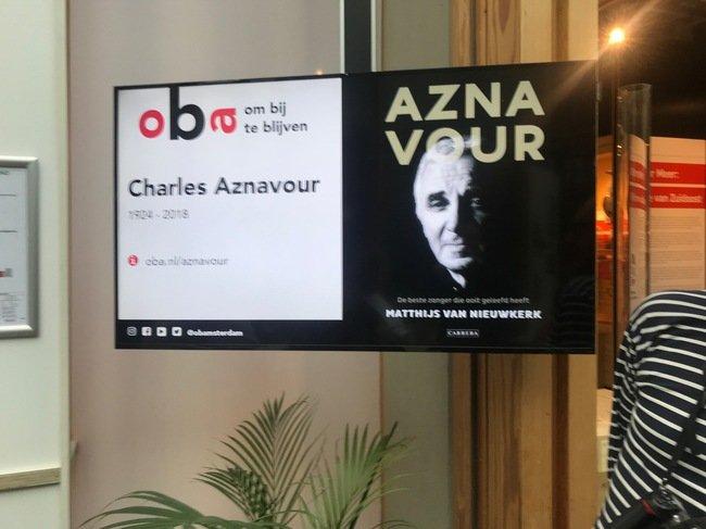 Azanavour sur écran à l'OBA