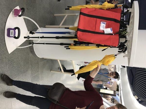 parapluies, poids et bâton de marche nordique