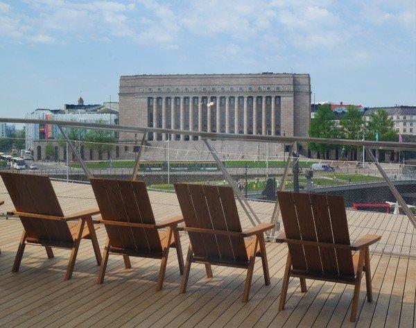 Photographie de la terrasse