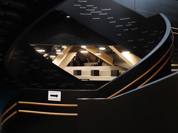 vue latérale de l'escalier