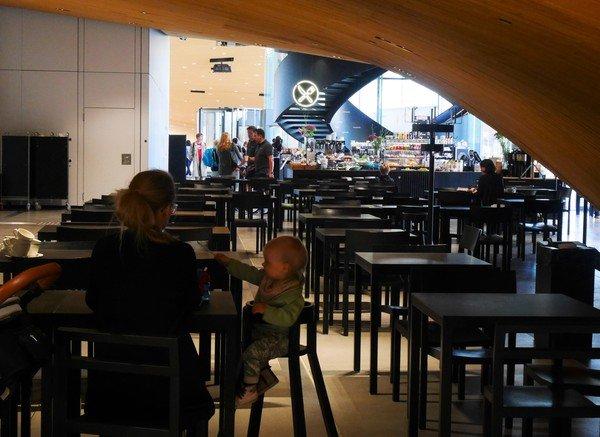 Photographie intérieure de la cafétéria