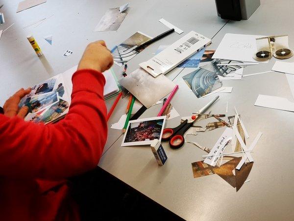 Atelier de création en cours.