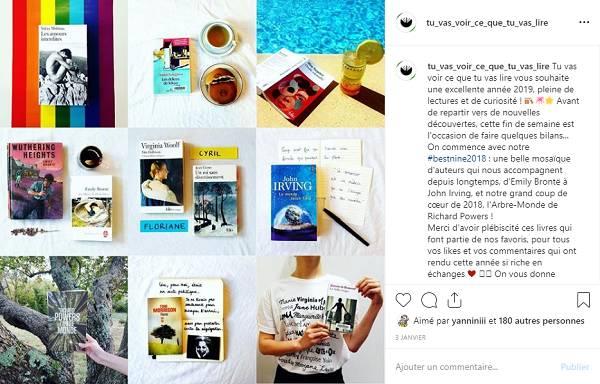 posts instagram de recommandations littéraires