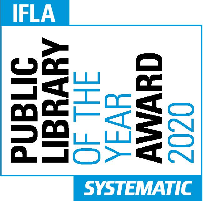 Logo du prix des bibliothèques publiques 2020