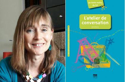 Photographie de Cécile Denier et de la couverture de son ouvrage