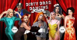 Photographie de drag queens à la fête