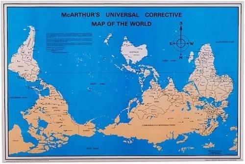 planisphere inversé