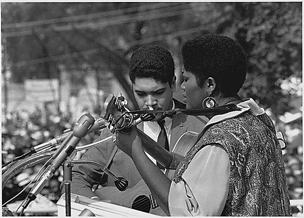 Photo d'Odetta le 28/08/1963