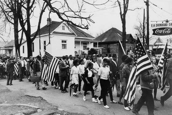 Participants à la marche de Selma à Montgomery