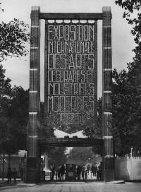 photographie noir et blanc de la porte d'Orsay à l'exposition de 1925