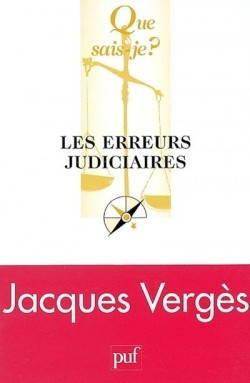 Couverture de Les Erreurs judiciaires