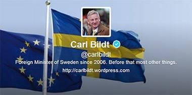 Carl Bildt sur le net