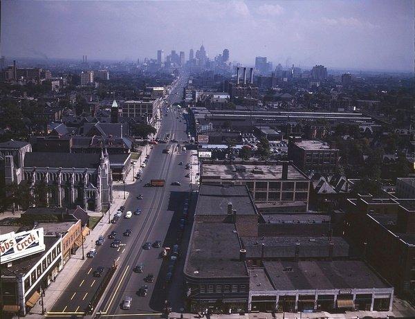 Woodward Avenue, Detroit, 1943