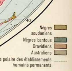 légende d'un atlas de 1959