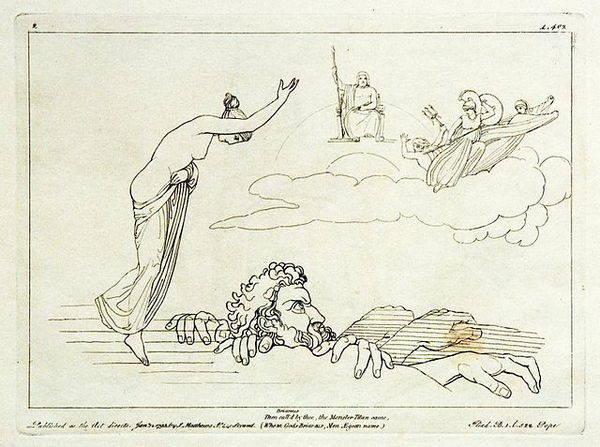 Représentation de Zeus, 1795