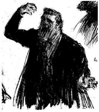 dessin au trait, par Léandree