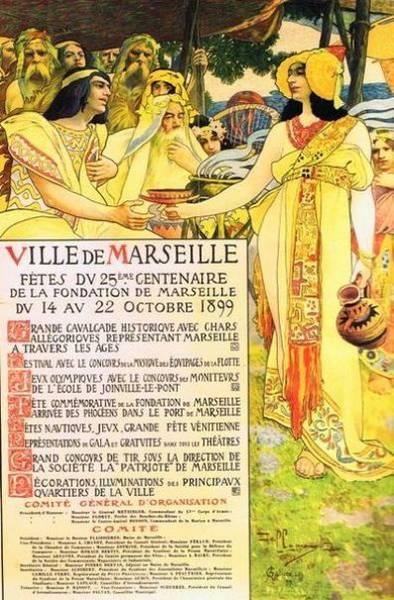 Affiche pour l'anniversaire de la fondation de Marseille