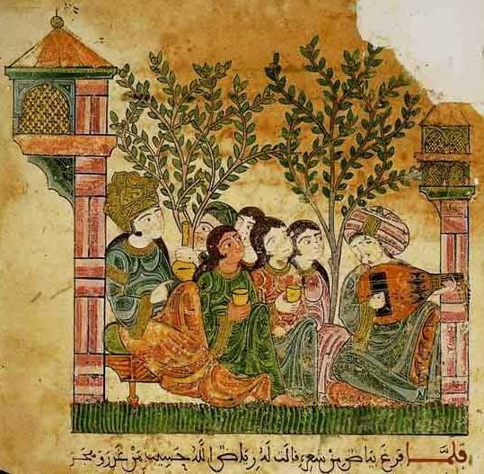 Chant de luth dans un jardin pour une noble dame