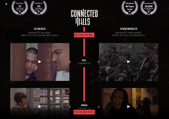 écran d'accueil du webdoc Connected walls